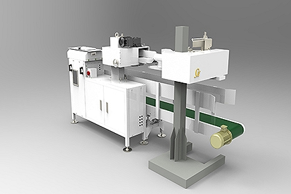 河南金谷全自动缝口贴标机器人设备厂家直销