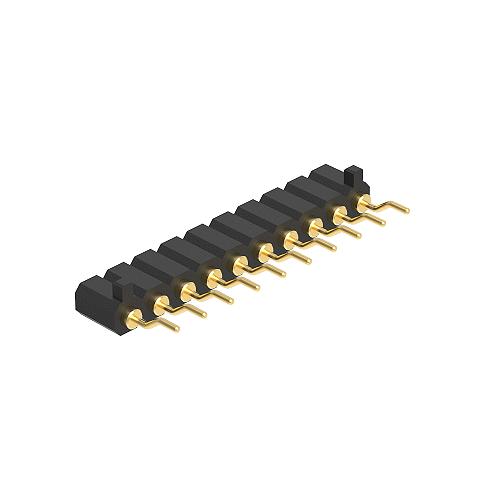 2.54H4.0單排90度SMT平面帯柱