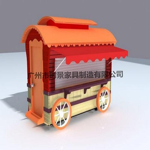 供應戶外木制售貨車,移動售貨車