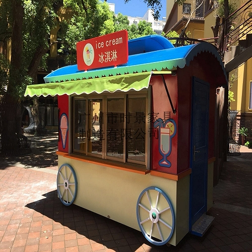 供應步行街售賣亭定制 戶外小吃售貨亭安裝
