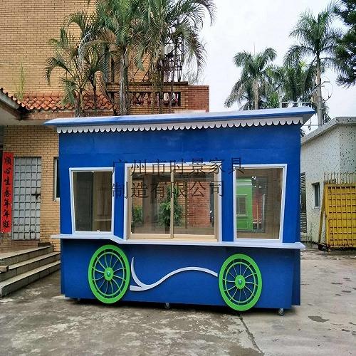 天津歡樂谷玻璃鋼售賣亭 卡通木制售賣屋