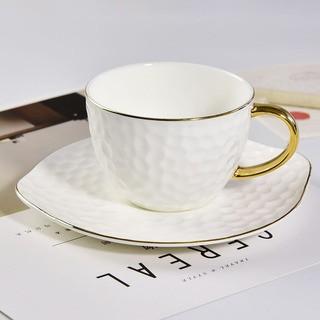 骨质瓷咖啡杯浮雕陶瓷杯金边下午茶杯礼品