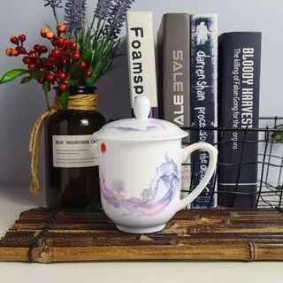会议杯办公盖杯酒店宾馆客房陶瓷茶杯