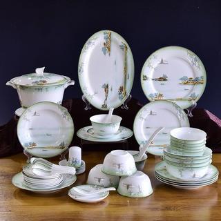 批发陶瓷餐具骨瓷碗盘碟摆台定制 图案