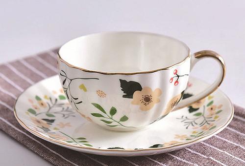 瓷亿美批发陶瓷咖啡杯碟南瓜杯碟礼品广告杯