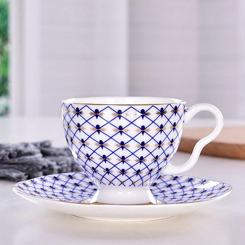 唯奥陶瓷批发咖啡杯碟 定制骨瓷水杯套装