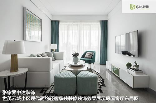 張家界中達裝飾公司家裝設計--現代簡約