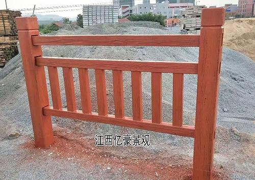 仿木欄桿生產廠家施工方法,水泥仿木護欄