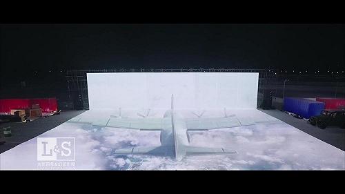 光影百年|腾讯和平精英冰面投影真人演绎秀