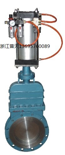 PZ673氣動暗桿式刀形閘閥