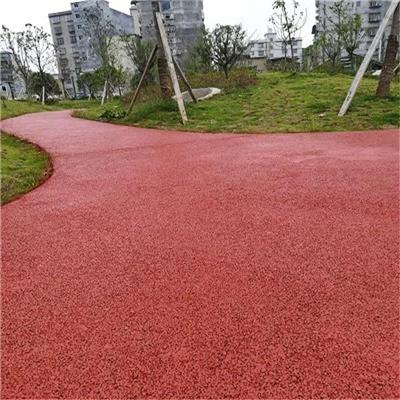 昆明市 彩色透水混凝土 壓模地坪