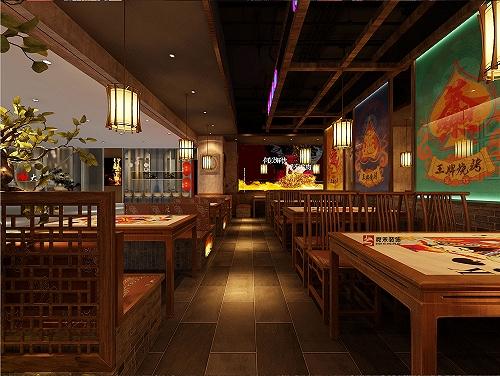 青島特色燒烤店烤肉店裝修設計
