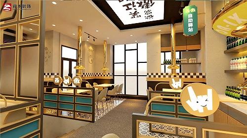 青島自助餐廳韓式燒烤烤肉店裝修設計公司