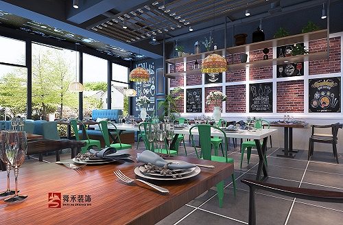 青島經典西餐廳裝修設計---山東舜禾裝飾