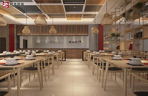 青島餐飲連鎖加盟火鍋店自助餐廳裝修設計