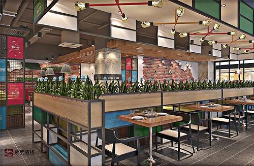 青島特色燒烤烤肉海鮮火鍋店料理店裝修設計