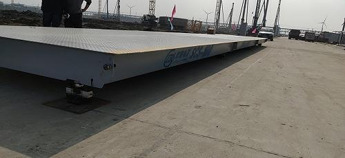 嘉興優科3米寬80噸地磅汽車衡臺中衡