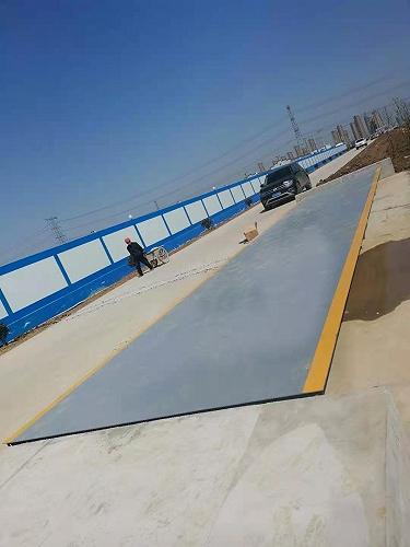嘉興優科電子3米寬9米80噸地磅臺中衡