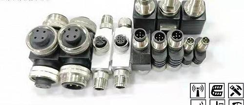 科迎法M12T型Y型一分二預制三通連接器