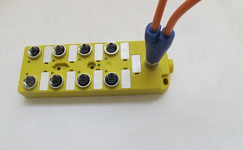 M12-8口8点,M23插座12针分线盒