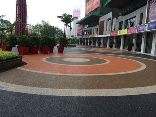 資陽壓花地坪 彩色透水混凝土施工工藝