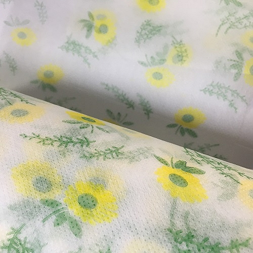 福建厂家 清新水刺布 口罩布 图案可定制
