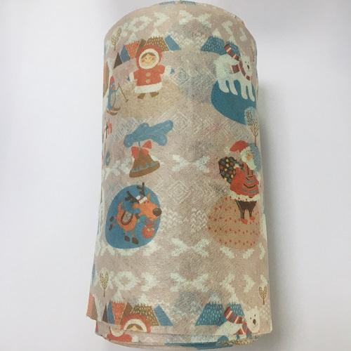 福建源头厂家 圣诞老人水刺布 可定制批发